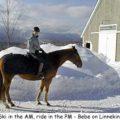 Bebe on Linnekin in winter