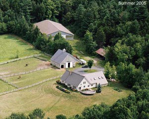Aerial view of the farm in 2005