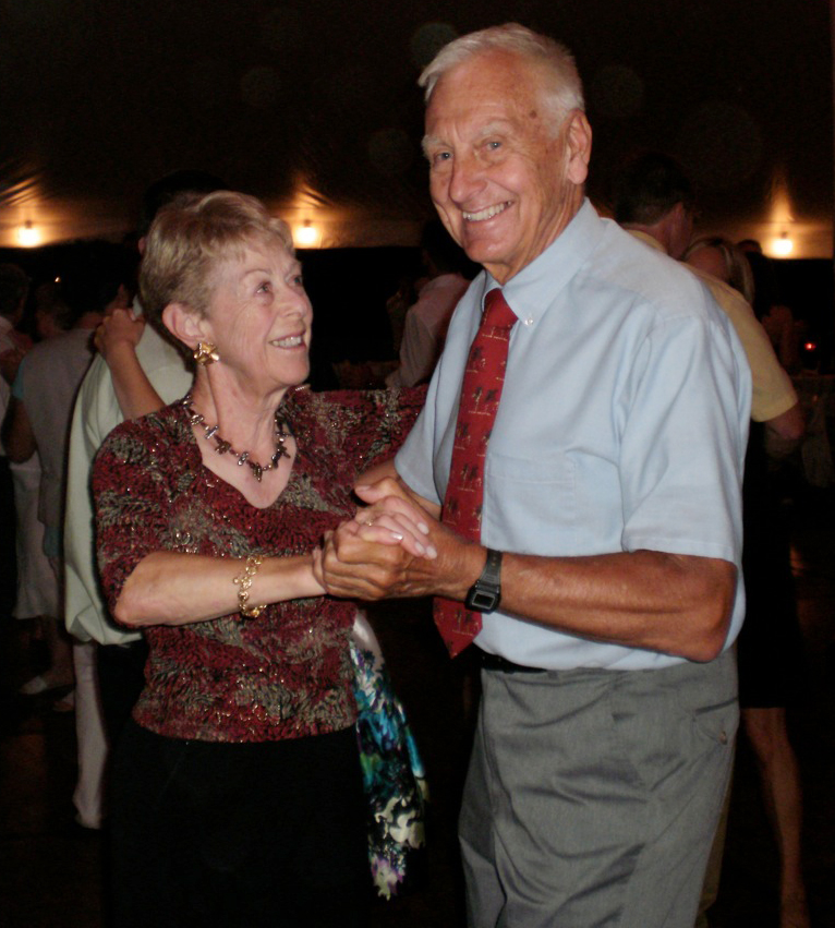 Bebe and Howie Whittle swing dancing - August 2011