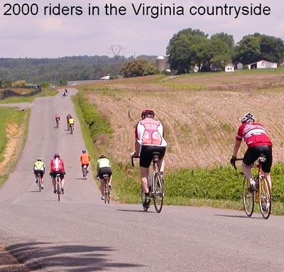 Bike Virginia riders enroute